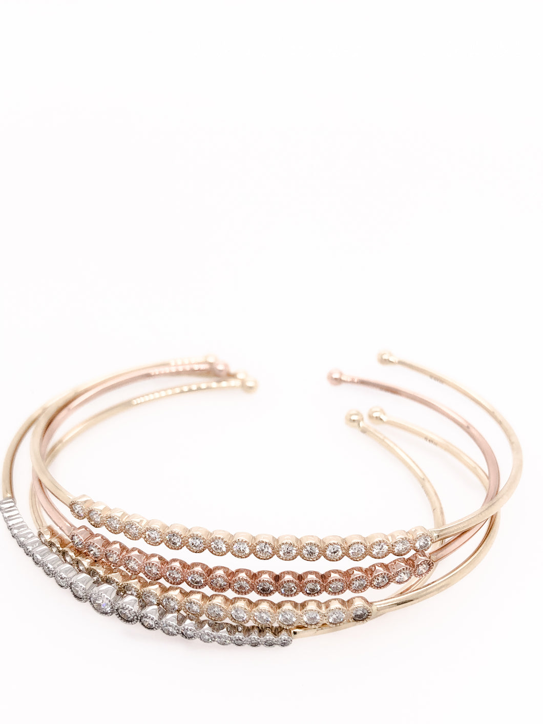 Lab Diamond Bangle Bracelets