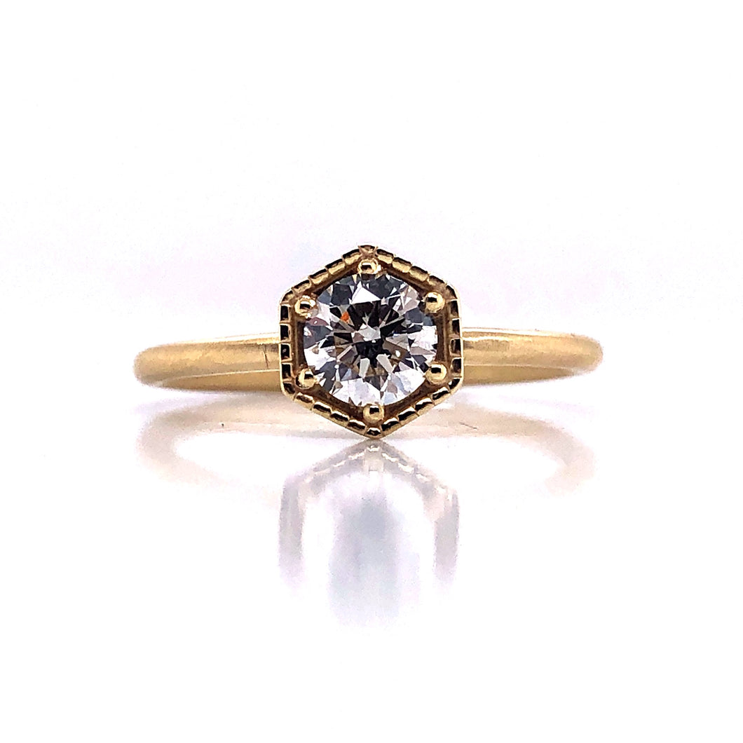 Hexagon Diamond Ring - CaleesiDesigns