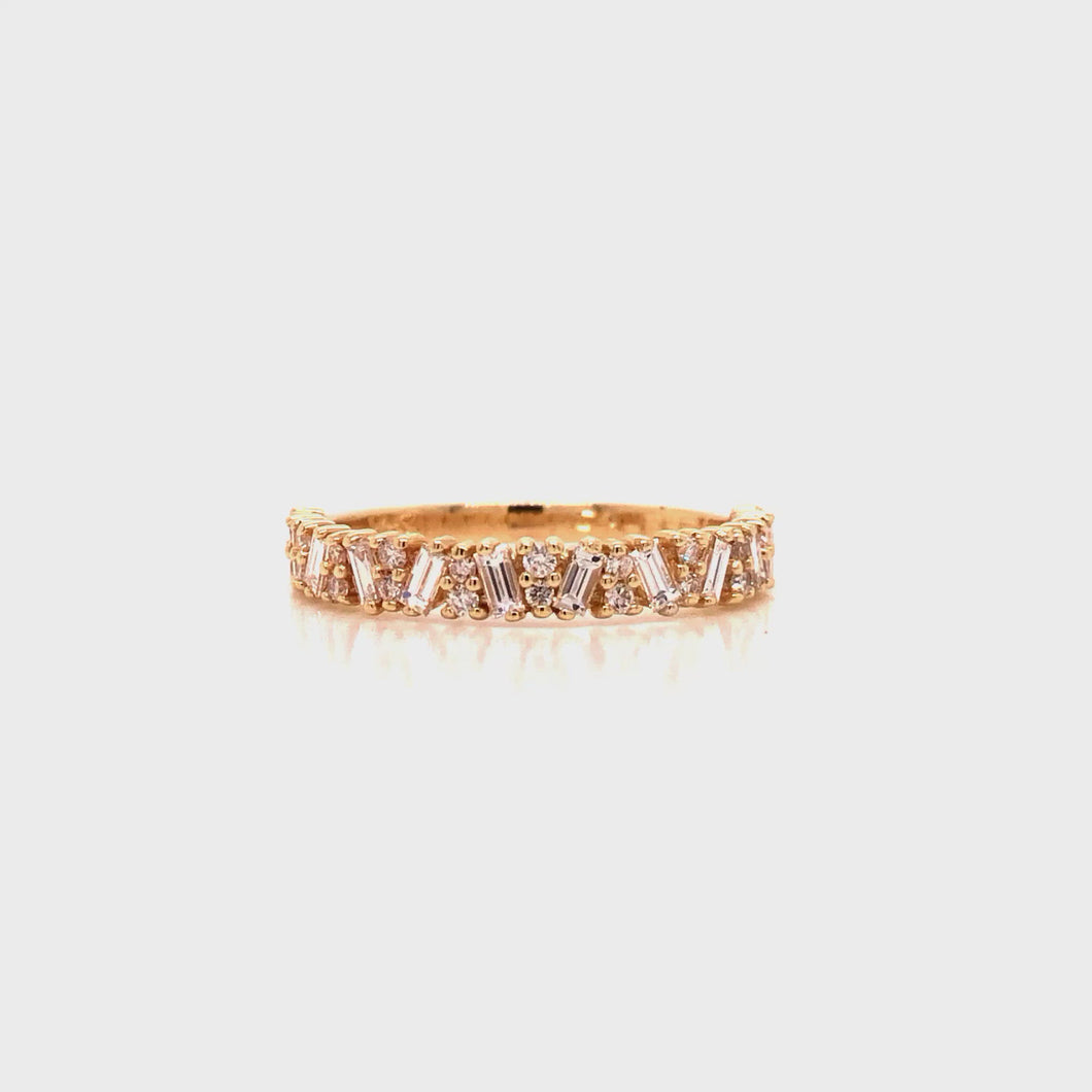 Sway Diamond Baguette Band