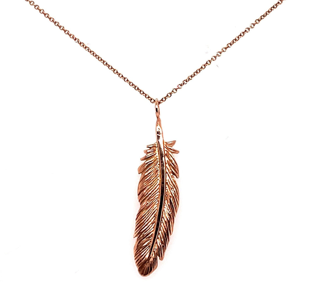 Feather necklace- Custom Caleesi Designs- Austin, Texas