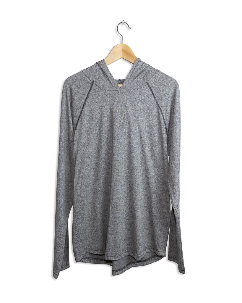 Men's Long Sleeve Active Athleisure T-Shirt - Grey