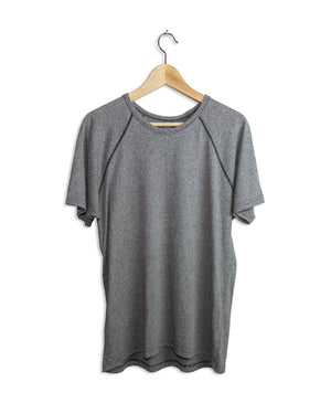 Men's Short Sleeve Active Athleisure T-Shirt - Grey