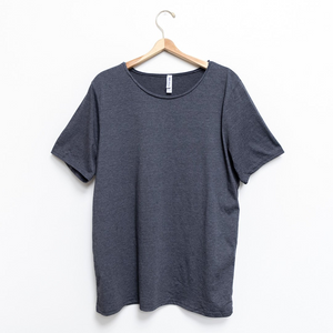 Bare Lyfe Co. - Raw - Men's Raw Scoop Neck Short-Sleeve T-Shirt Tee- Dark Grey