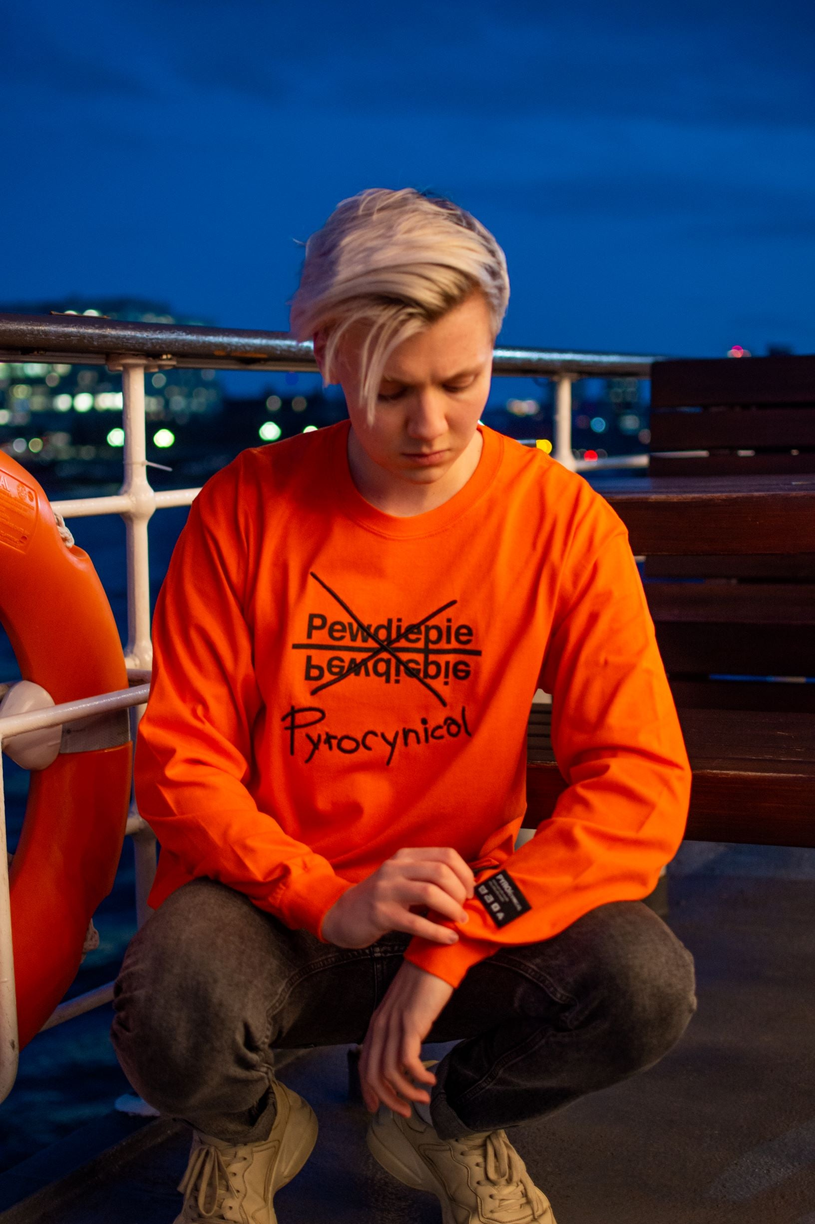 Misprint Orange Long Sleeve Tee