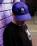 Pyrocynical 5-Panel purple cap with white embroidery