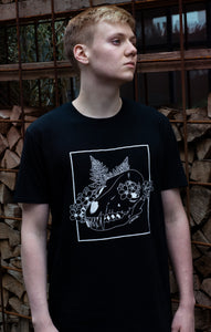 Pyrocynical black t-shirt with fox skull design