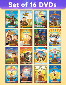 Set of 16 Brother Francis DVDs