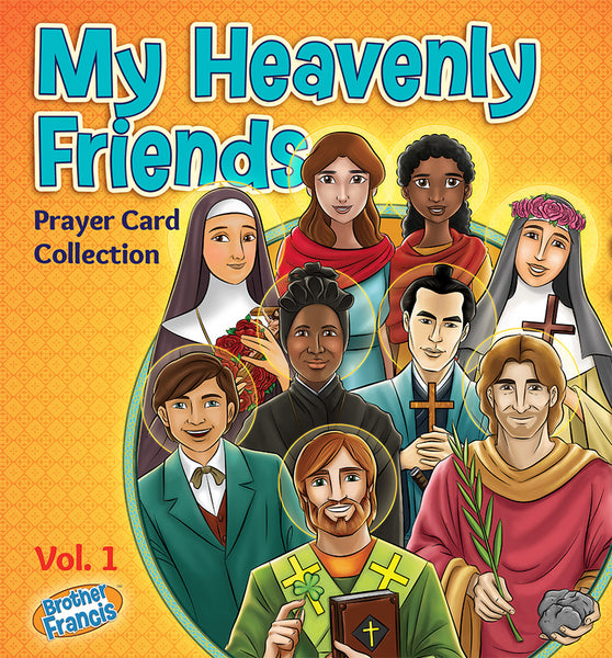 My Heavenly Friends Prayer Card Collection Vol. 1 - 70 Holy Cards by Brother Francis
