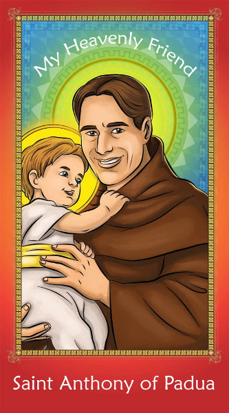 Prayer Card - Saint Anthony of Padua | Holy card for Catholic kids by Brother Francis