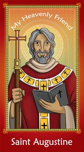 Prayer Card - Saint Augustine | Holy card for Catholic kids by Brother Francis