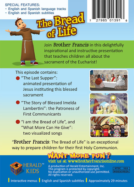 The Bread of Life - Celebrating the Eucharist for Catholic Children with Brother Francis DVD synopsis