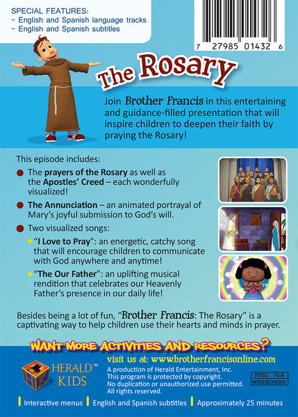 Brother Francis Episode 3 - The Rosary - Prayer for Catholic Children DVD synopsis