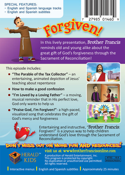 Brother Francis episode 4: Forgiven - The Blessings of Confession for Catholic Children DVD synopsis