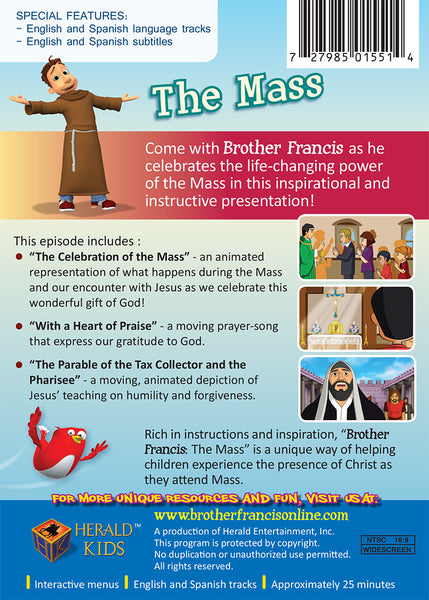The Mass | For Catholic Kids | Brother Francis DVD Synopsis Episode 6