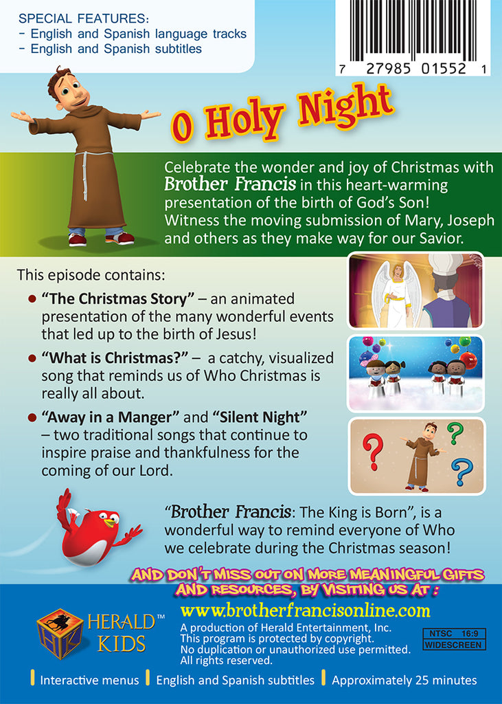 O Holy Night The King is Born | Animated Christmas Story – Brother Francis