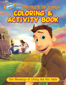 Brother Francis Coloring and Activity Book - Following in His Footsteps - the blessings of obedience