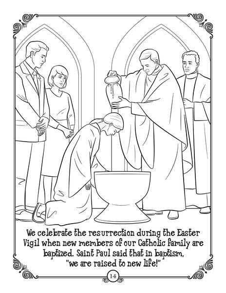 Brother Francis Coloring and Activity Book - He is Risen - the Easter story for Catholic kids - Easter Vigil
