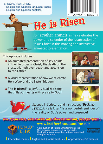 He is Risen | Easter and Resurrection Story | Brother Francis DVD Synopsis