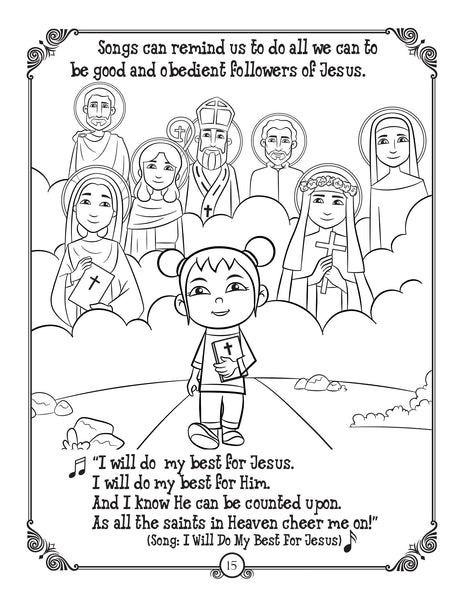 Brother Francis Coloring and Activity Book - Joytoons - I will do my best for Jesus!