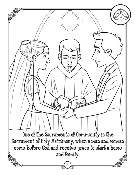 Brother Francis Coloring and Activity Book - The Sacraments for Catholic Kids coloring page