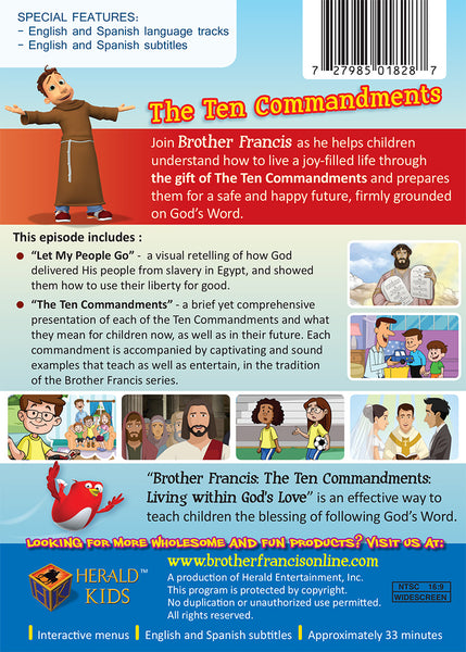 The Ten Commandments | Brother Francis DVD Synopsis