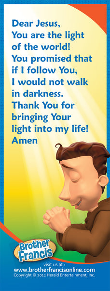 Bookmark - Light of the World prayer