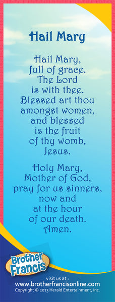 Bookmark - Hail Mary prayer