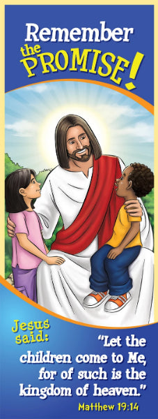 Bookmark - Let the children come to Me. Matthew 19:14 by Brother Francis