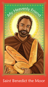 Prayer Card - Saint Benedict the Moor | Holy card for Catholic Kids by Brother Francis