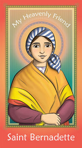 Prayer Card - Saint Bernadette | Holy card for Catholic kids by Brother Francis