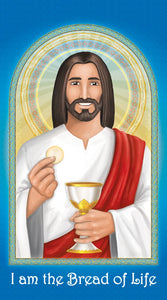 Prayer Card - Bread of Life Holy Card for kids.
