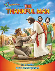 Color and Grow - The Thankful Man coloring book and reader