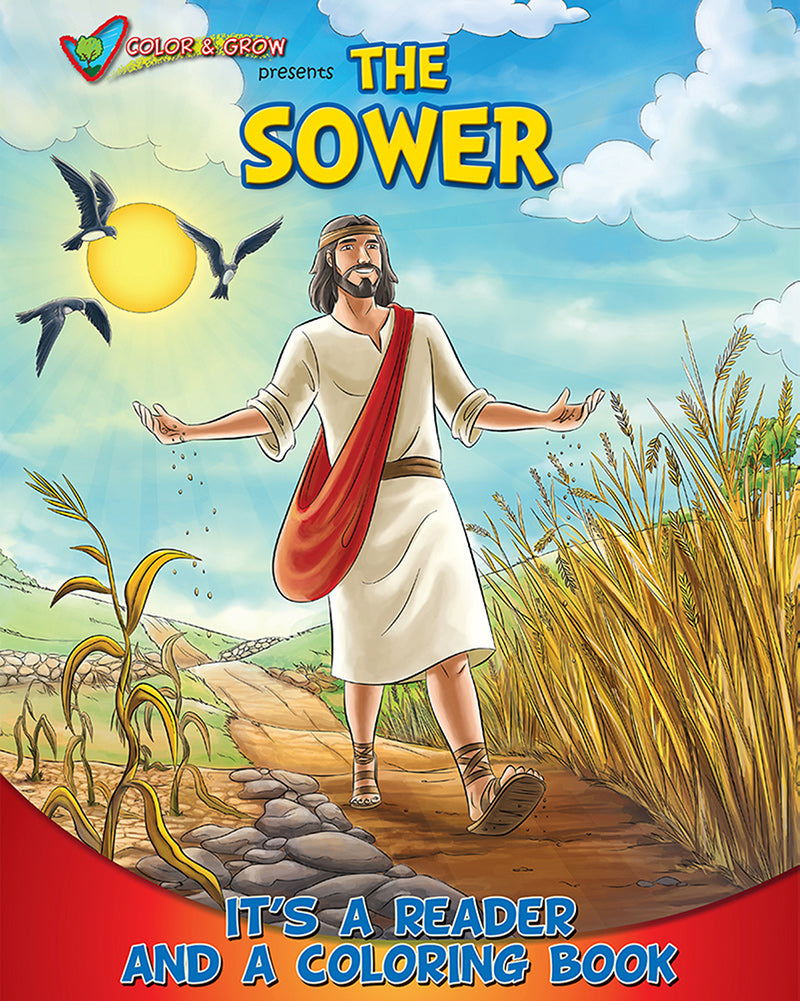 Color and Grow - The Sower parable, reader and coloring book
