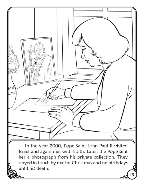 An Act of Kindness - a Coloring Storybook of Pope Saint John Paul II coloring page