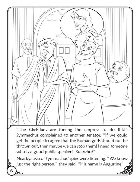 The Story of Saint Augustine - A coloring Storybook by Brother Francis, coloring page