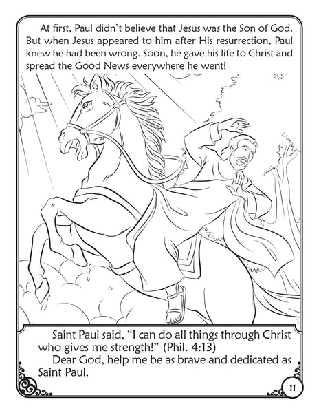 Our Heavenly Friends - The Saints - volume 1 coloring book - Saint Paul