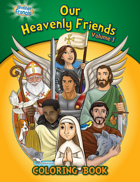 Our Heavenly Friends - The Saints - volume 1 coloring book