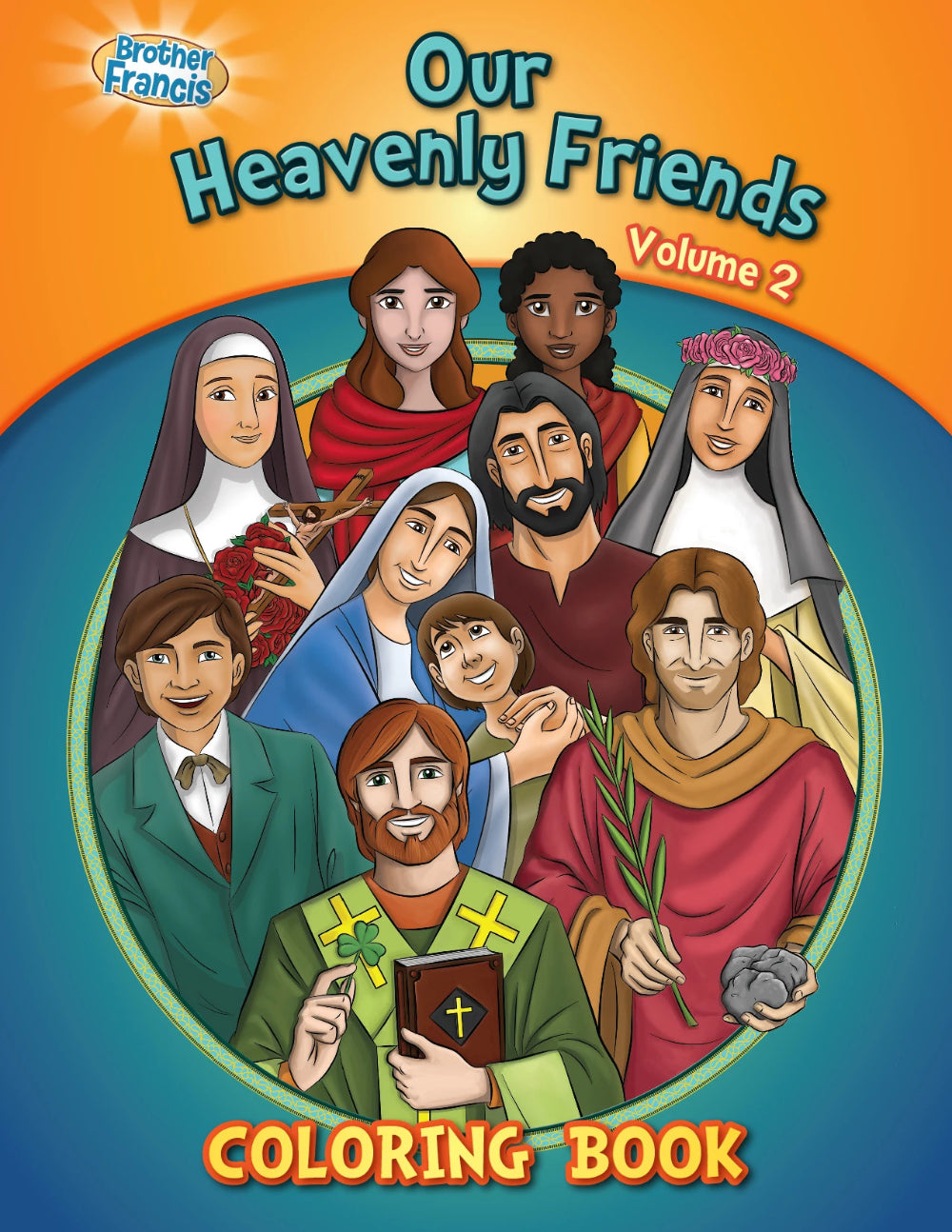 Our Heavenly Friends - The Saints - volume 2 coloring book by Brother Francis
