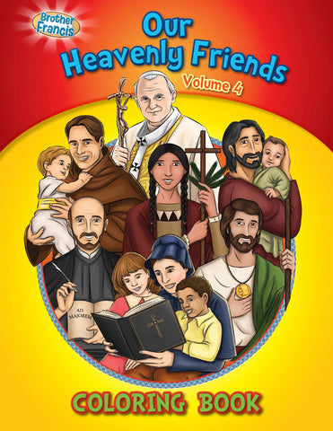 Our Heavenly Friends - The Saints - volume 4 coloring book by Brother Francis
