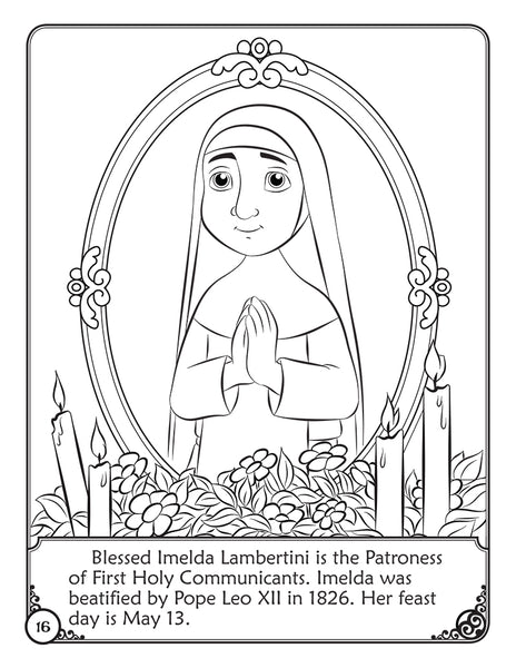 The Story of Imelda Lambertini - A coloring storybook by Brother Francis coloring page