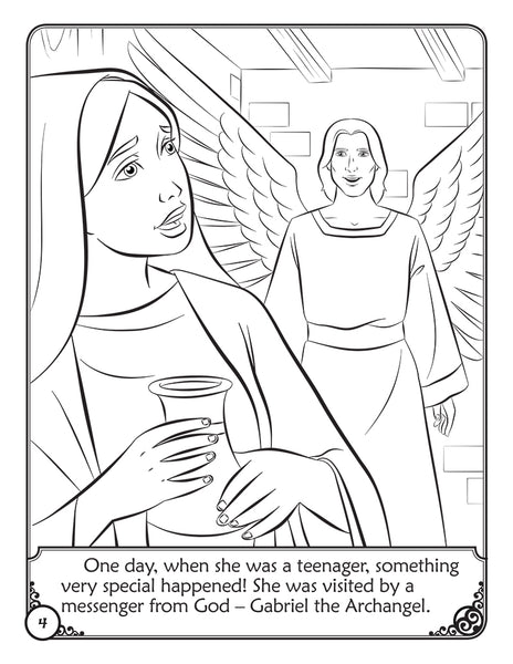 The Story of Mary - A coloring storybook by Brother Francis - the annunciation