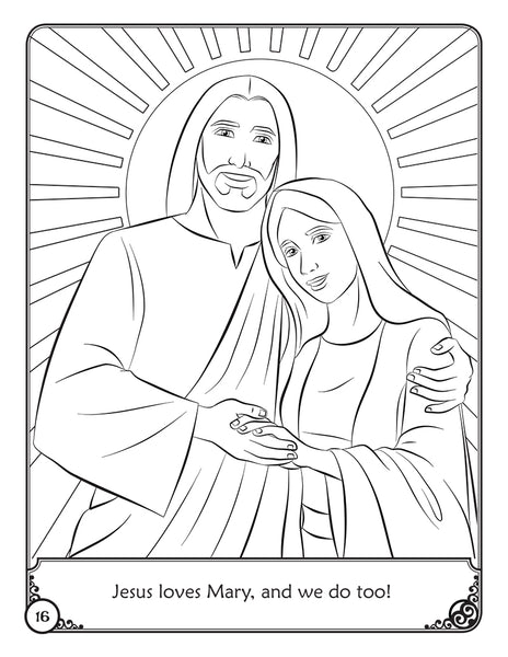 The Story of Mary - A coloring storybook by Brother Francis - sample coloring page