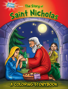 The Story of Saint Nicholas coloring storybook by Brother Francis