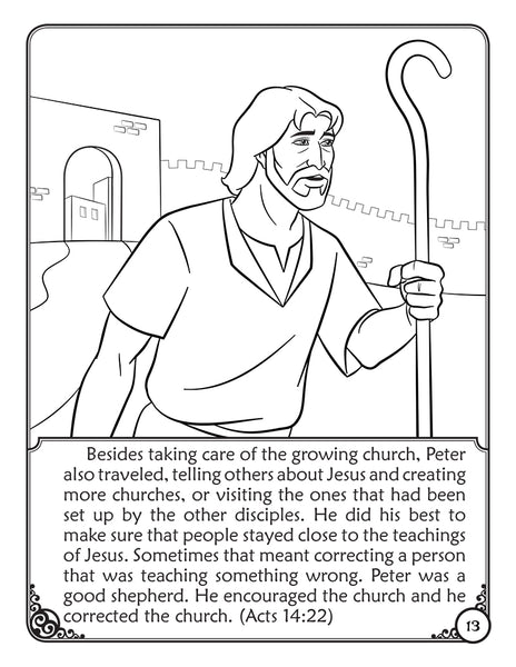 Coloring Storybook: Saint Peter The First Pope