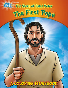 The Story of Saint Peter the First Pope coloring storybook by Brother Francis