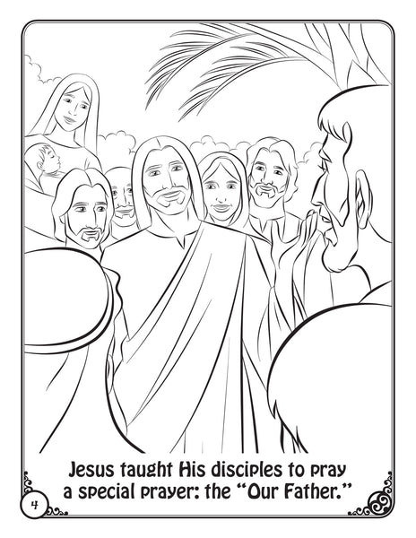 Prayers of the Church Coloring Activity Book by Brother Francis - Our Father