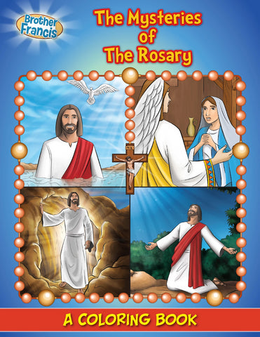 Mysteries of the Rosary coloring book by Brother Francis