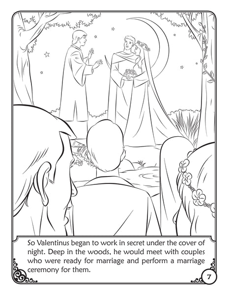 The Story of Saint Valentine - Coloring Storybook from Brother Francis sample page