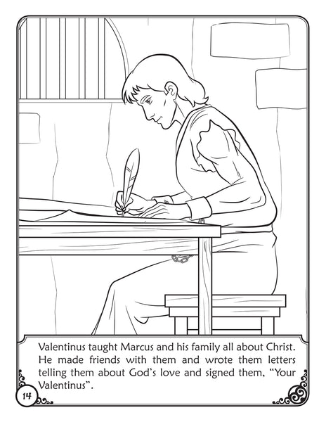 The Story of Saint Valentine - Coloring Storybook - Valentines