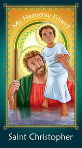 Prayer Card - Saint Christopher | Holy card for Catholic kids by Brother Francis